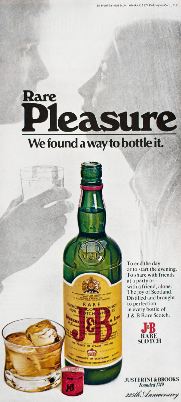 J&B Rare Scotch Advertisement - Gourmet: October 1974