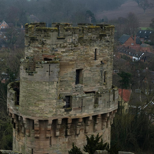 Tower of Warwick castle, Warwickshire, England. 11th c. by BurAlejandre on Flickr.