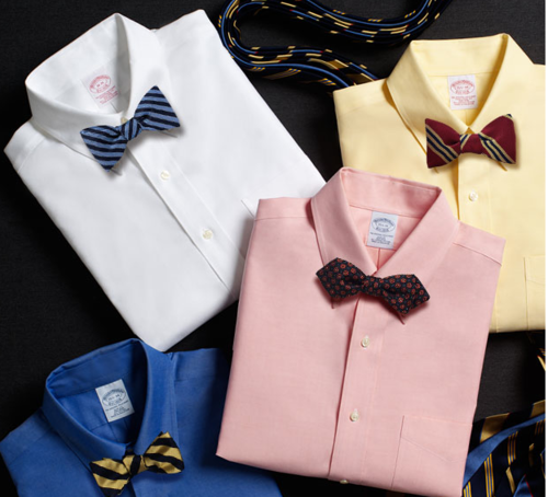 Must Have-Bow ties. A bow tie is a great alternative to a regular neck tie. It adds a touch of class and unique style & can be worn with a suit or n oxford paired with slim fit denim. Brooks Brothers-http://www.brooksbrothers.com/IWCatSectionView.process?IWAction=Load&Merchant_Id=1&Section_Id=412 J. crew-http://www.jcrew.com/boys_category/accessories/tiesbowties/PRDOVR~50911/50911.jsp Kiel James Patrick-https://kieljamespatrick.com/index.php/product/Maritime_Repp_Bow_Ties