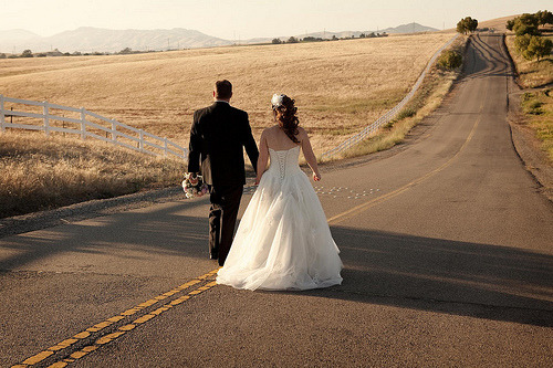 """On the road to happiness""… sweet wedding photo (by markymark99)"