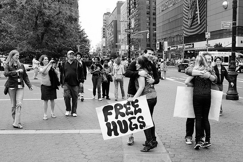 Free Hug Girls Out in Force (by Michael Comeau)