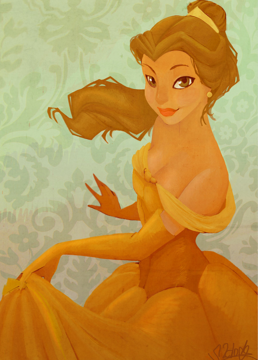 "fairytalemood:  ""Belle Painting"" by Valentina Pinto"