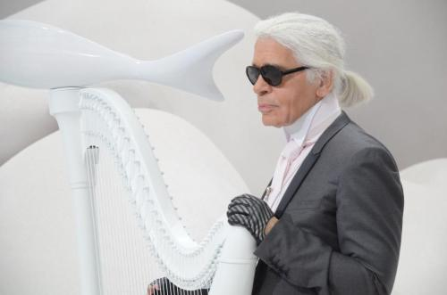 Karl Lagerfeld at Chanel S/S 2012 show