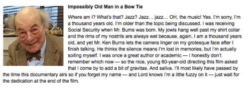 Interviews With People Interviewed In Every Ken Burns Documentary Ever (Click for more)