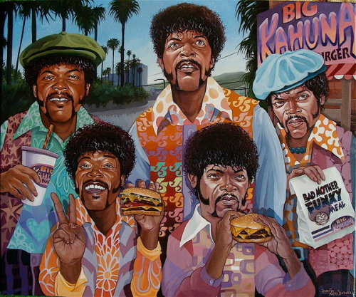 Samuel L. Jackson Five - funny work from David MacDowell (who defo has a 'thing' for his Jules Winnfeld look)   x