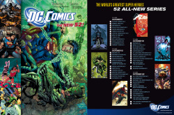 Checklist for the second issues of DC Comics - The New 52