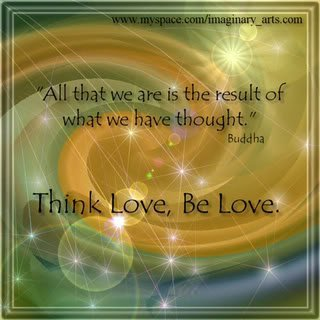 Think love. Be love. xo