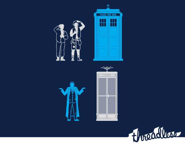 threadless:  This is totally bogus, dude. This is not my Time Machine by Lawrence Villanueva is one of this week's new printed tees.