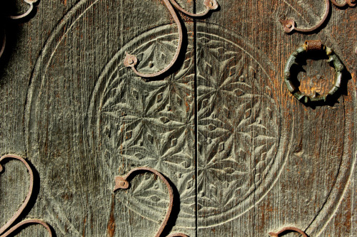 Epic door carving // Norsk Folke Museum // Oslo, Norway // by Bekah Lunn