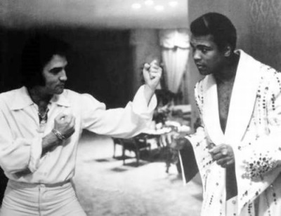 awesomepeoplehangingouttogether:  Elvis Presley and Muhammad Ali