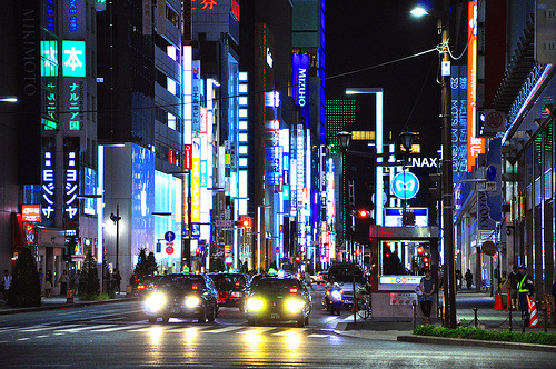 fuckyeahjapanandkorea:   Ginza by night (by P!nkAngel)