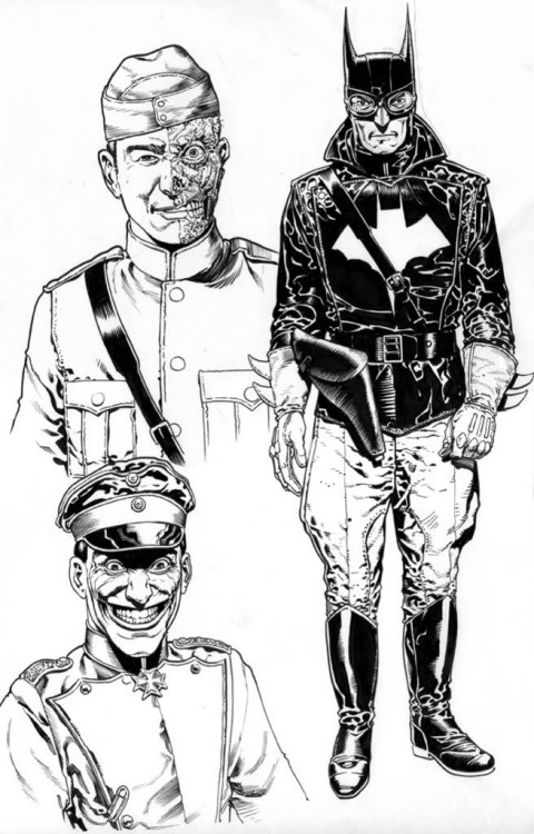 charactermodel:  Batman : Aces High, Jokers Wild by Chris Weston via DC: LES PROJETS AVORTÉS  .