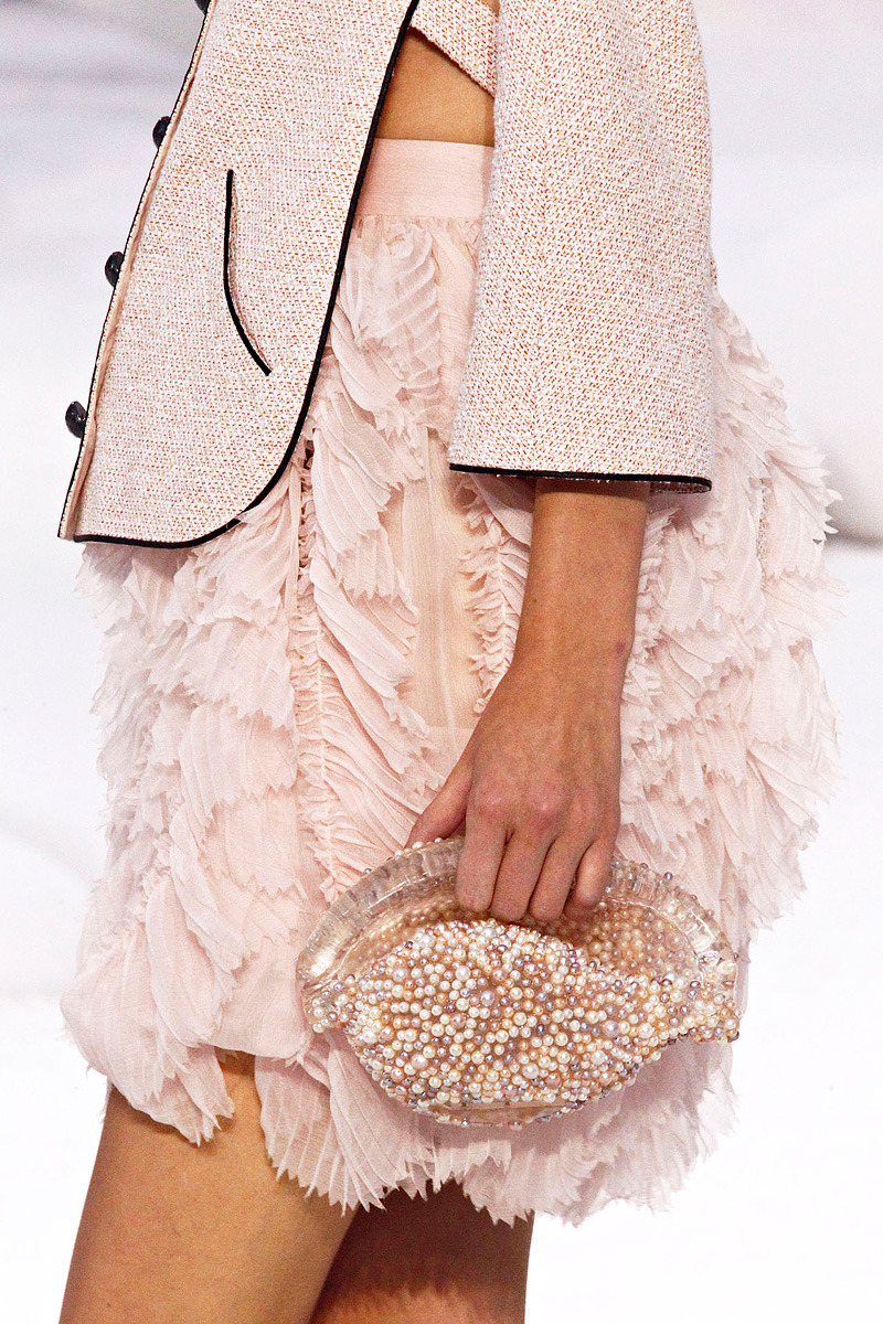 Detail of a clutch at Chanel Spring 2012 RTW.