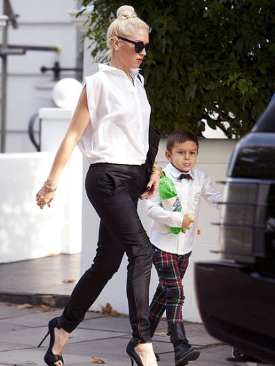 Gwen Stefani and big boy Kingston..kids in fashion..<3