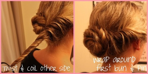 Quick and easy up-do! Might try this tomorrow!