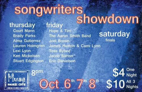 we're playing this songwriter competition at muse music this weekend. we'd really like to win, and it's largely based on audience participation, so why don't you come hang out with us?