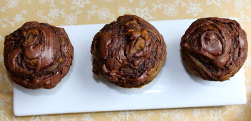 graceinplace:  self-frosting pumpkin nutella muffins you've gotta be kidding me right now.  Why am I working? I need to be home making these!!
