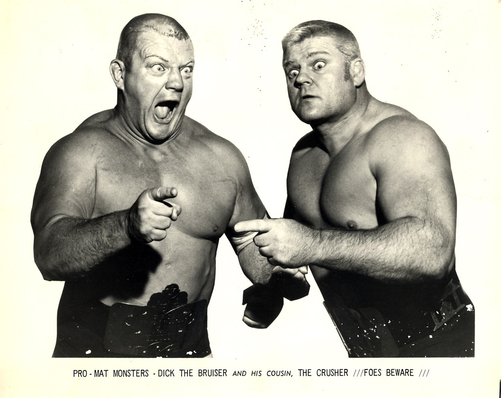 apocalypse-polakiewicz:  Dick the Bruiser & The Crusher  Another one of my great uncle in law on the right…