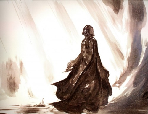 all-about-villains:  Darth Vader - By: Yoshitaka Amano