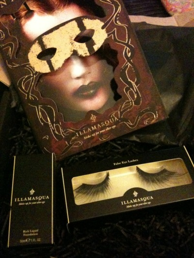 "Today I received my order from cult make up brand Illamasqua. It came exquisitely packaged, enveloped in black tissue paper and accompanied by a visually rich catalogue in a black box. It is possibly the gothiest parcel I have ever received, and this is coming from someone who once received a box from the US covered in halloween stickers. This is no bad thing, of course, and quite befitting of the contents.  My earlier picture post, the sneak peek of this year's Halloween costume, was taken during a trial make up run for my outfit. This year I have decided to do a costume which I have wanted to do for a number of years - an undead Marie Antoinette. I decided to make her a vampire this year, as my party theme is Vampire Masquerade. For this costume I need white face make up; my regular pale palette just isn't going to cut it this time. In previous years, for geisha costumes and my Dia de los Muertos costumes, I have required white face make up and I have always been disappointed with the products chosen. I first tried Snazaroo facepaint, but this produced a patchy result which didn't last the night. A few years ago I purchased Stargazer's White pressed face powder and layered this on top of my regular foundation. This produced a pale and chalky, somewhat uneven result, but it did the job of giving me a pale face. This year I wanted to invest in a proper white foundation or base. I decided to give Manic Panic's ""Goth White"" Cream Powder Foundation a try, and was quite crestfallen when it popped through my letterbox. The pot is a lot smaller than I had envisioned and it feels like greasepaint to apply. The coverage is not very thick and it has a powdery, chalky texture. After that disappointment, I considered ordering the Virgin white liquid foundation by Manic Panic, but after reading several online reviews I felt it wasn't going to achieve my desired result either.  Last year, being a MAC girl, I had hoped to try their Pure White Chromacake product after seeing it used on a Youtube Sugar Skull make up tutorial. As it is a professional only product, I wasn't able to purchase it from our local store so when I next went to London, I popped into their Pro branch in West Soho. I was disappointed by their customer service and after 20 minutes of waiting patiently, left empty handed.  And so I came across Illamasqua. I didn't visit their site specifically for the white foundation I wanted, rather nosing out of curiosity. Their site is filled with dramatic make up looks, and this included a perfectly porcelain face. As it turns out, they make their Rich foundation in White, which looked ideal. Whilst I was there, I also purchased a pair of their false eyelashes in Grandeur, from the new ""Theatre of the Nameless"" collection, which are dramatic but elegant. I can't wait to wear them!   I am so pleased with both products, even after only swatching the foundation on the back of my hand, I've found the consistency to be slightly thicker than my regular daily MAC Studio Fix liquid foundation, but with a good white coverage even on the first application. A couple of layers should give me the perfect base (I hope) but this will require a proper test run. The eyelashes are truly beautiful - being handcrafted, they are a world away from their cheaper counterparts. Although these products err on the expensive side of the spectrum, I see them as quality pieces which are an investment for my make up collection.  If you haven't already, do check out Illamasqua: www.illamasqua.com if not to purchase then just to look at their beautiful collections and there are also some great video tutorials. Illamasqua present themselves as being ""make up for your alter ego"", and they certainly are just that."