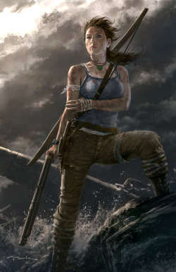 gamefreaksnz:  Tomb Raider celebrates 15th Anniversary with digital art exhibit  fucking sickkk
