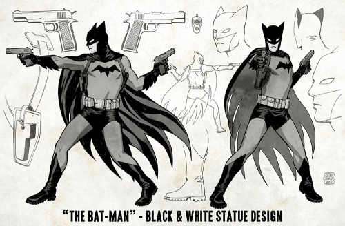 cliffchiang:  Batman:Black and White statue This statue, designed by me and sculpted by Paul Harding, goes on sale today. Here is my original turnaround, which Paul brilliantly brought into 3 dimensions. I couldn't be happier with the final product.