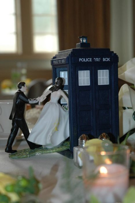 This is exactly what we're doing for our cake topper for our wedding! Of course, as I am a ginger, we'll have to paint the bride's hair. ;)