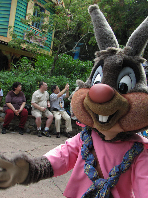 itumblfordisneycharacters:  Bre'r Rabbit Taken on September 22, 2010 during Mickey's Jammin' Jungle Parade on Discovery Island, Disney's Animal Kingdom (Walt Disney World, Lake Buena Vista, FL) Photo by Loren R. Javier.  This photo can be republished for non-commercial purposes, but only if it contains photo credit and/or link back to the original photo.  Please click photo for rules on the Creative Commons license of this photo.