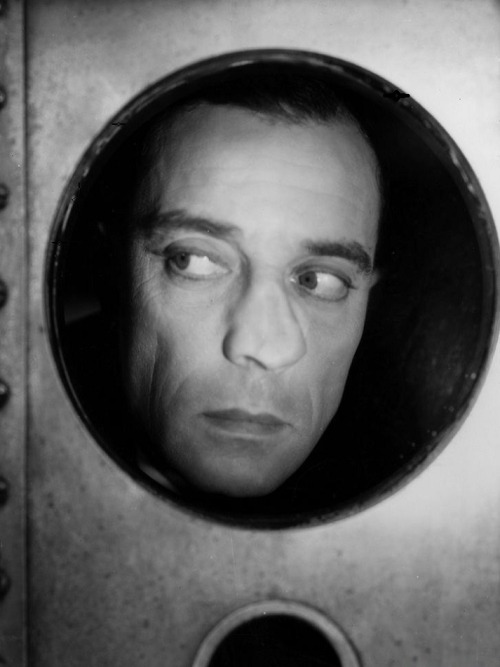 Buster Keaton in production still for Sidewalks of New York (1931, dir. Jules White)