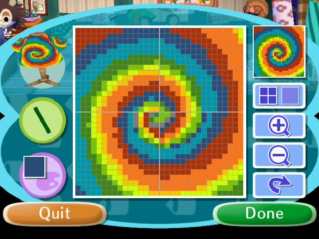 Animal crossing designs traditional tye dye c a wild for Animal crossing mural