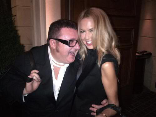 Rachel Zoe and Alber Elbaz after Lanvin show