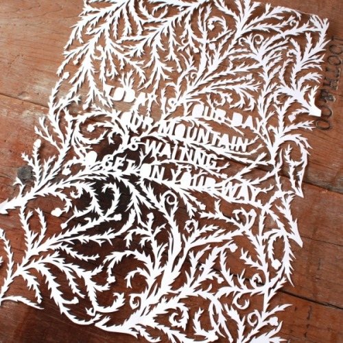 curiositycounts:  This lovely hand-cut Dr. Seuss quote by mrYen comes just in time for the beloved author's fantastic new posthumous anthology of rare stories  (via)