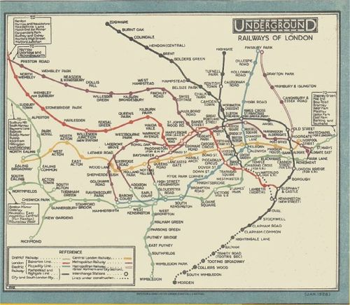 zygomatic:  old tube map.