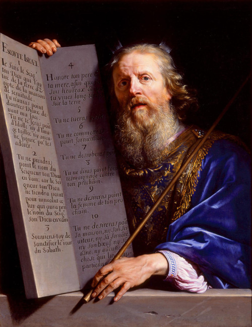 arthistoryeveryday:  Moses Presenting the Tablets of the Law by Philippe de Champaigne (1648)   The hands
