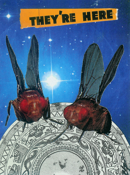 'The Swarm from Outer Space' - Collage on Card Stock 2011 http://www.facebook.com/hoop.and.stick.art http://society6.com/hoopandstick