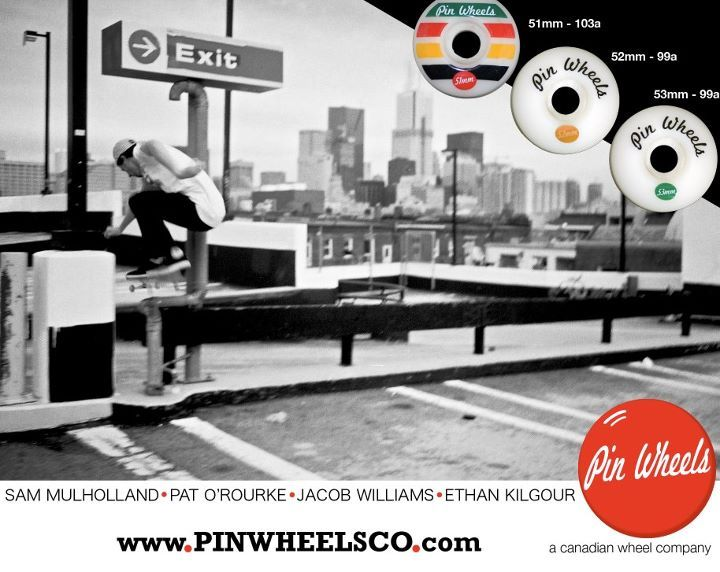 Sam Mulholland ad for Pin Wheels #BHNR