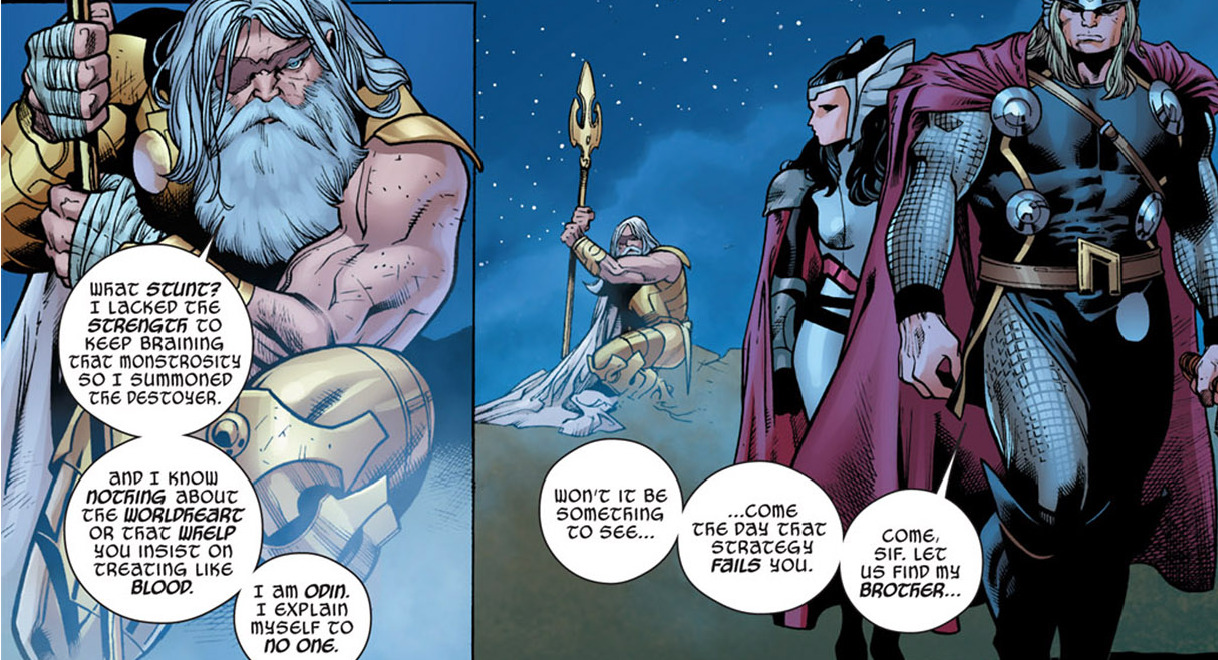 Odin… really you're not a good father at all… actually you're a bad one…. you know