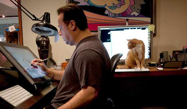 Photo of Joe Quesada from that great Sunday article in the New York Times. I love stories like these. Especially the bit about his daughter and what kind of Dad he tries to be for her. I'm embarrassed but I am getting older so the nesting thing is beginning to get stronger and stronger with each passing year.