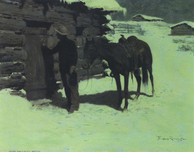 Frederic Remington Belated Traveler, 1906