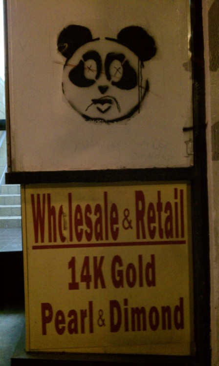 Taken in  Chinatown off Grant St if recall correctly.  Artist unknown, i look it up and there are a couple of them online but i could not find an artist name. If you know i would love to give credit.