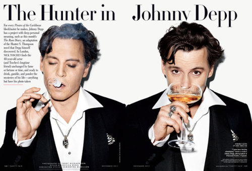 bohemea:  Johnny Depp: The Hunter In Johnny Depp - Vanity Fair by Terry Richardson, November 2011