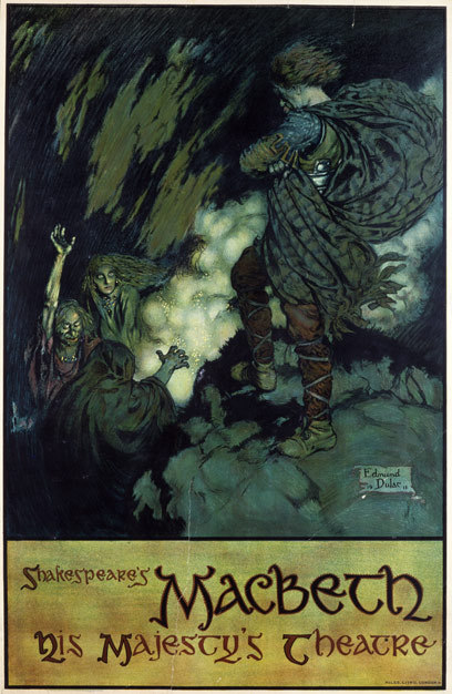 enchantingimagery:  A poster for Macbeth by Edmund Dulac.