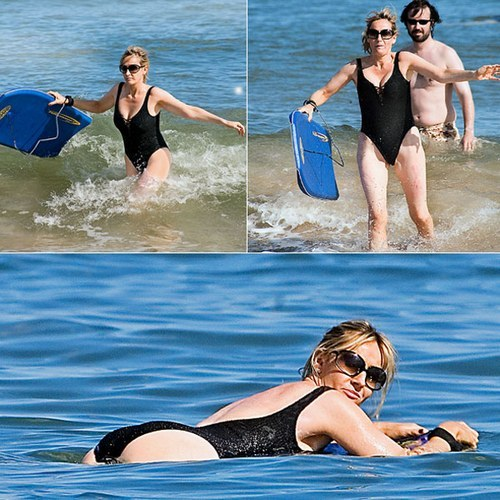 JK Rowling's beach body? Why is this on the internets? Not necessary.