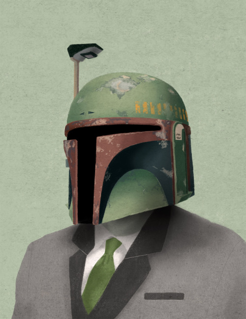 justinrampage:   The bad dudes of Star Wars get a major fashion upgrade by Tumblr artist Chase Kunz. Check out Society6 to get them all as prints, cases or skins. Fashionable Fett by Chase Kunz (Tumblr) (Society6) (Twitter) Via: spoonskunz