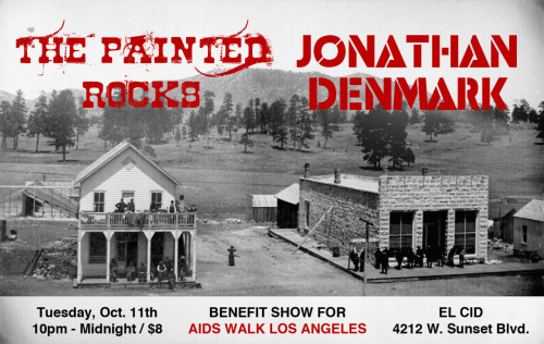 Come out and support our dear friends, Jonathan Denmark and Machete Bang Bang, as they play to support The Los Angeles AIDS Walk! http://www.elcidla.com/http://www.aidswalk.net/losangelesAn estimated 62,000 people were infected with HIV/AIDS at the beginning of 2010…IN LOS ANGELES COUNTY ALONE!So come out Tuesday, October 11th for an amazing show featuring:JONATHAN DENMARK - Full Set / Featuring Machete Bang Bang / The Lights+THE PAINTED ROCKS!!!it's $8 at the door and all door proceeds will benefit AIDS Walk Los Angeles!!!SHOW starts at 10PMLet's earn some money for this great cause!PLEASE FEEL FREE TO BRING ANYONE AND EVERYONE YOU KNOW!!! :) http://www.facebook.com/event.php?eid=277965325561842