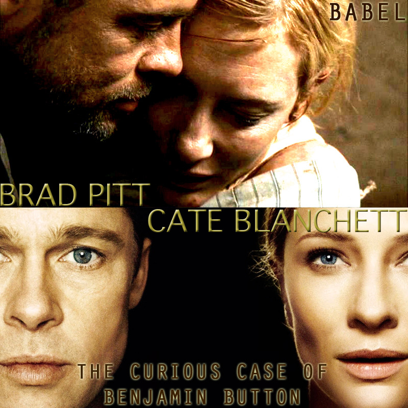 SIX DEGREES OF ACTING Brad Pitt and Cate Blanchett - Babel (2006), The Curious Case of Benjamin Button (2008)