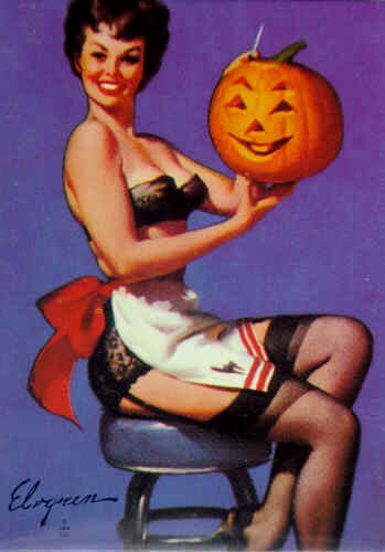 "vintagegal:  ""All Smiles"" by Gil Elvgren 1962"