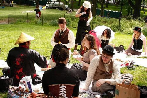 Come join us in our settler's picnic! Pay no attention to the industrial truck behind us.