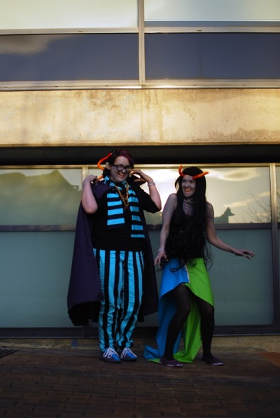 fff- i have no idea what we are doiiiiing XD  Eridan @ Megan  Feferi @ Me  cosplaying from Homestuck