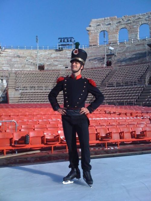 beautiful-shapes:  Opera on Ice Stéphane Lambiel costume rehersal He was so cute in this one! <3